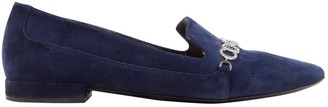 Christian Dior Navy Suede Flats