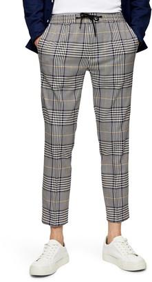 Topman Whyatt Plaid Crop Trousers