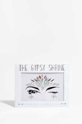 Nasty Gal Womens SHRINE Take the Crown Face Jewels - Silver