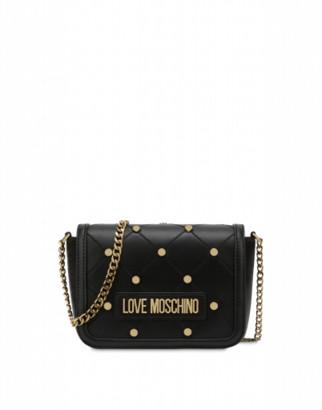 Love Moschino Clutch With Stars Woman Black Size U It - (one Size Us)
