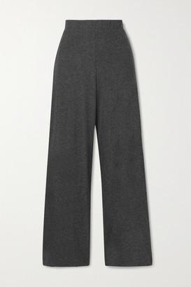 Leset Stretch-jersey Wide-leg Pants - Charcoal