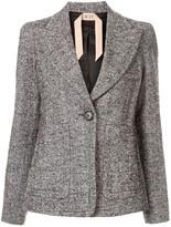 No.21 Chevron knit blazer
