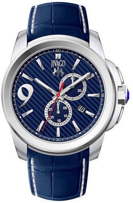 Jivago JIVAG HairO Gliese Mens All Blue Leather Strap Watch