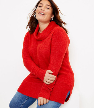 LOFT Plus Cowl Neck Tunic Sweater