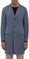 Isaia Men's Aquacashmere® Fleece Three-Button Topcoat-BLUE