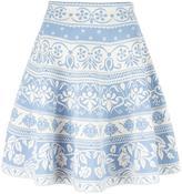 Alexander McQueen jacquard knit mini skirt - women - Polyamide/Polyester/Spandex/Elastane/Viscose - XS