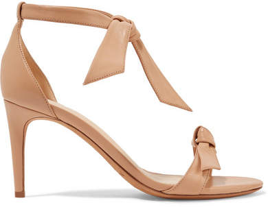 Alexandre Birman Clarita Bow-embellished Leather Sandals - Beige