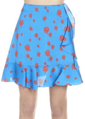 Kenzo Floral Print Ruffled Skirt