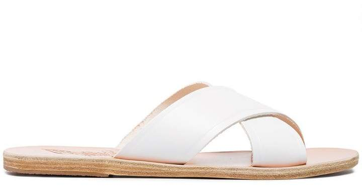Ancient Greek Sandals White Thais Leather Sandals