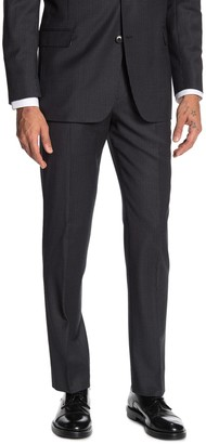 "Brooks Brothers Charcoal Pinstripe Print Regent Fit Suit Separates Trousers - 30-34"" Inseam"