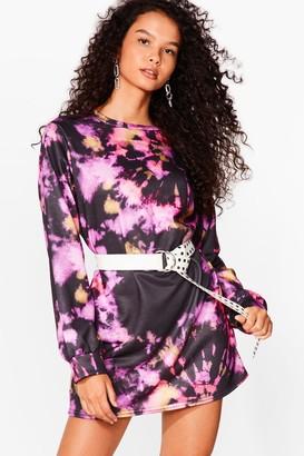 Nasty Gal Womens Tie Dye We Love You Mini Dress - Pink - S, Pink