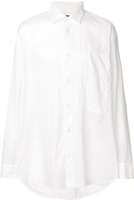 Issey Miyake Chest-Pocket Long Sleeve Shirt