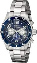 Invicta Men's 12911 Pro Diver Chronograph Dark Textured Dial Stainless Steel Watch