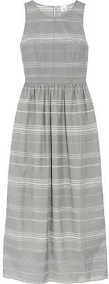 Iris & Ink Striped Devore-chambray Maxi Dress