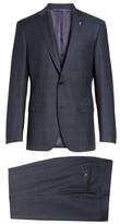 Ted Baker Men's Jay Trim Fit Plaid Wool Suit