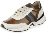 Brunello Cucinelli Waxed Leather Contour Sneaker