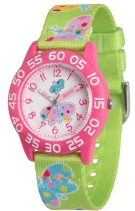 Red Balloon Girls' Pink Plastic Time Teacher Watch, 1-Pack