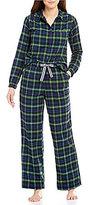 Sleep Sense Petite Flannel Plaid Pajamas