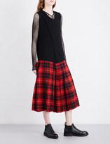 Junya Watanabe Tartan sleeveless wool dress