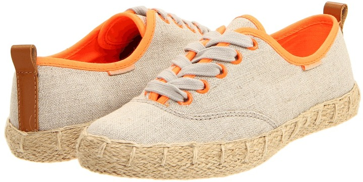 Juicy Couture Salla (Dark Natural Hemp/Neon Orange Twill) - Footwear