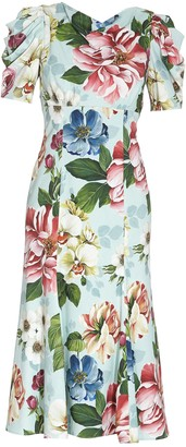 Dolce & Gabbana Floral Printed Midi Dress