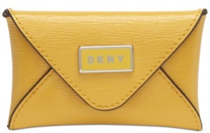 DKNY Gigi Leather Envelope Card Case, Created for Macy's