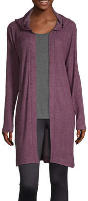 Xersion Womens Hooded Neck Long Sleeve Cardigan