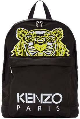 Kenzo Black Limited Edition High Summer Tiger Backpack