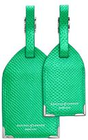 Aspinal of London Lizard Embossed Luggage Tags (Set of 2)