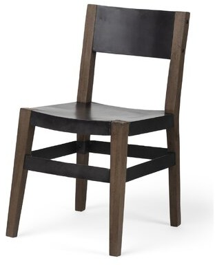 Gracie Oaks Clukey Solid Wood Dining Chair Gracie Oaks