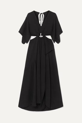 3.1 Phillip Lim Cutout Crepe Maxi Dress - Black
