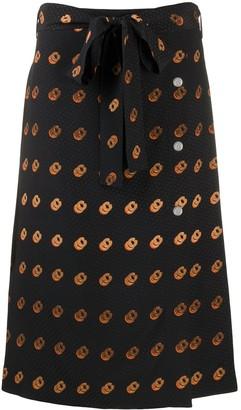 Coach Multi-Print Wrap Skirt
