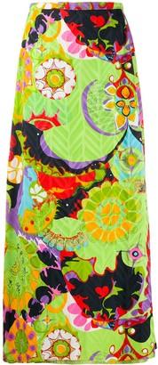 A.N.G.E.L.O. Vintage Cult 1970s Floral Print Maxi Skirt