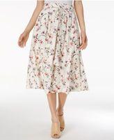 J.o.a. Floral-Print Midi Skirt