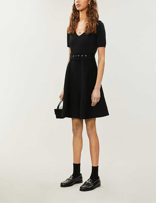 Claudie Pierlot Moncoeure V-neck stretch-knit mini dress