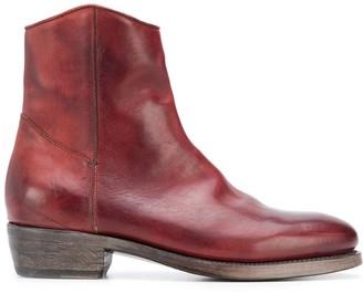 Ajmone Zipped Ankle Length Boots