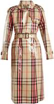 Burberry Laminated cotton-blend gabardine trench coat