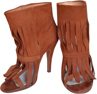 Maison Margiela Brown Suede Ankle boots