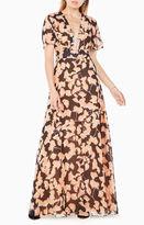 BCBGMAXAZRIA Anaelle Floral-Print Silk Dress