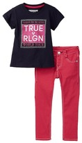 True Religion Short Sleeve Tee & Pants Set (Toddler Girls)