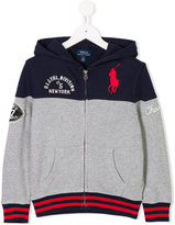 Ralph Lauren colour block logo embroidered hoody