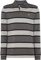Howick Men's Tedford Plain Long Sleeve Polo Shirt