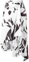 MM6 MAISON MARGIELA printed crumpled skirt