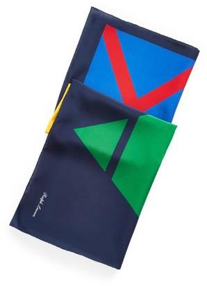 Ralph Lauren Geometric Silk Scarf