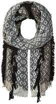 Collection XIIX Diamond Tribe Fringed Blanket Wrap Scarves