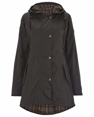 Celtic & Co Womens Wax Riding Style British Made Rain Coat - Dark Brown - Size 8