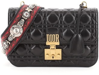 Christian Dior Dioraddict Flap Bag with Strap Cannage Quilt Lambskin Medium
