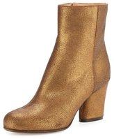 Maison Margiela Metallic Suede 70mm Ankle Boot, Bronze