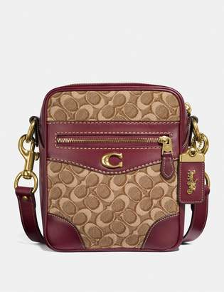 Coach Max Crossbody 18 In Signature Jacquard