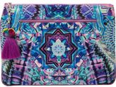 Camilla Threads Of Cosmos Large Canvas Clutch
